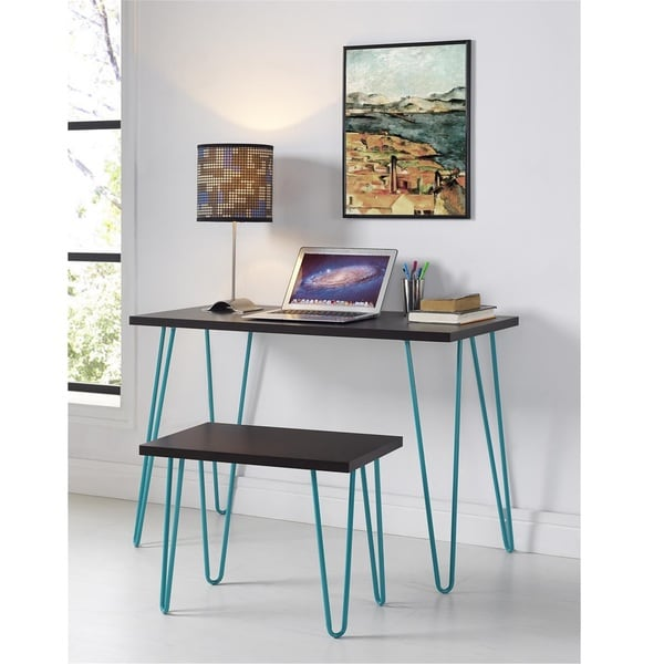 Shop Ameriwood Home Owen Retro Desk And Stool Set Free
