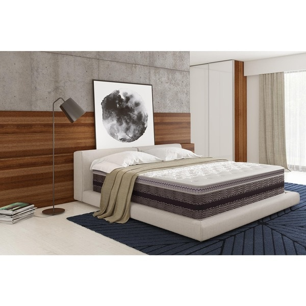 Signature Sleep Elite 14-inch Independently Encased Coil & Gel Memory Foam King Hybrid Mattress with CertiPUR-US Certified Foam