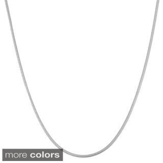 Gioelli Sterling Silver Adjustable Snake Chain