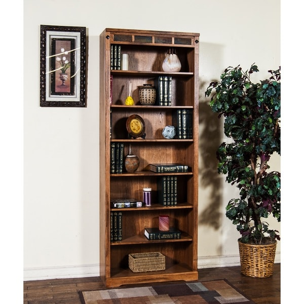 Sunny Designs Sedona 84 Inch Bookcase Free Shipping Today 10102217