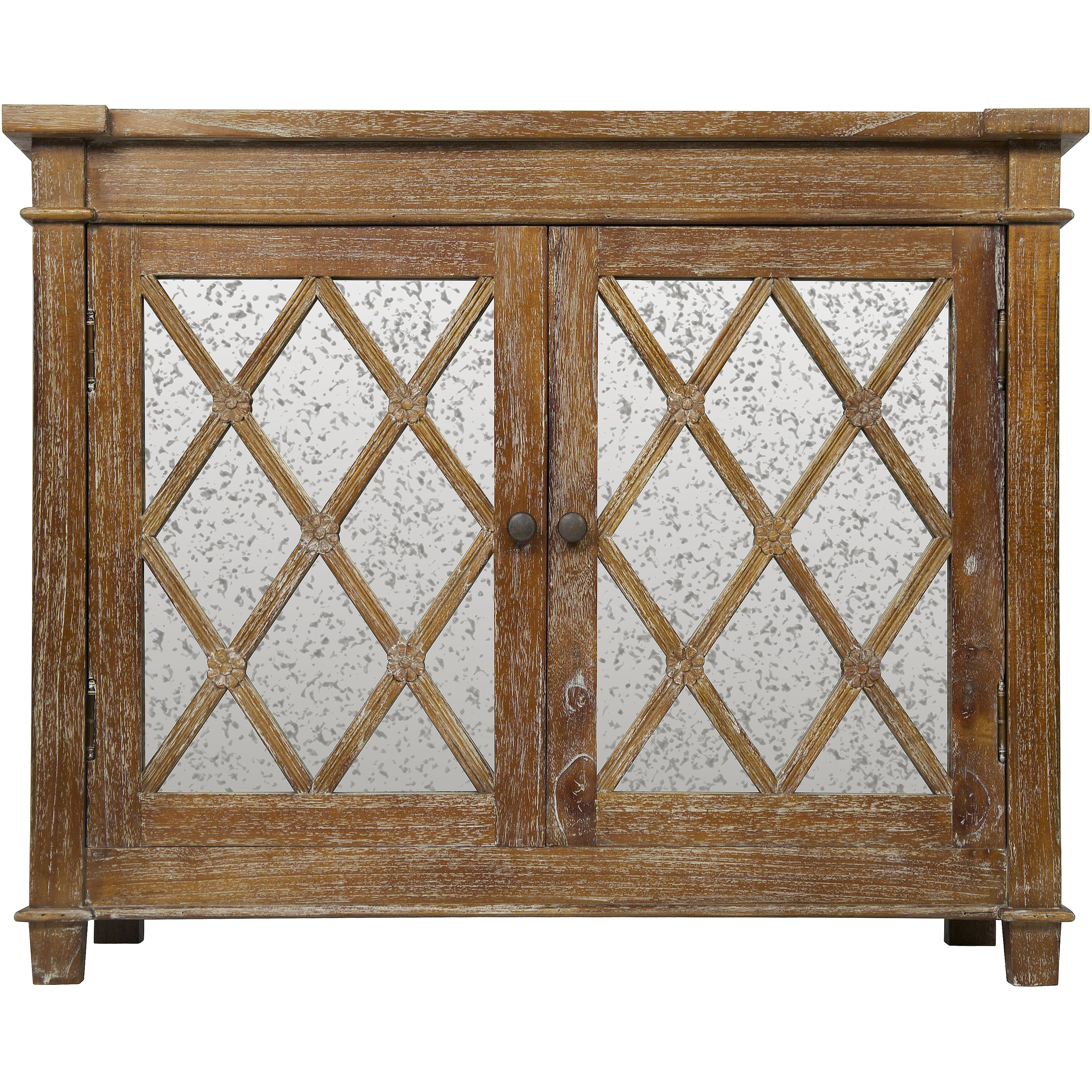Elis Wood And Antique Glass Sideboard Media Center Overstock 10102290