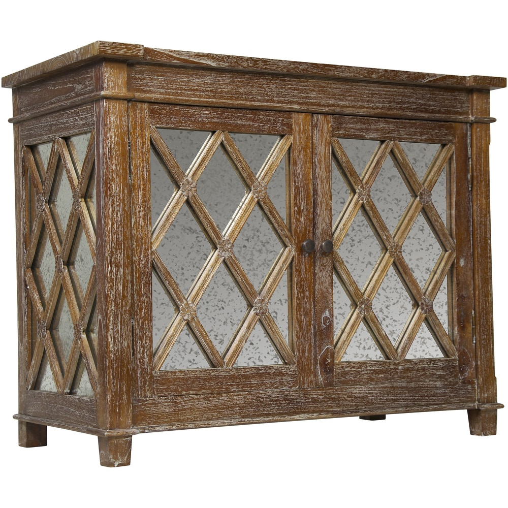 Museelis Wood And Antique Glass Sideboard Media Center Brown Dailymail