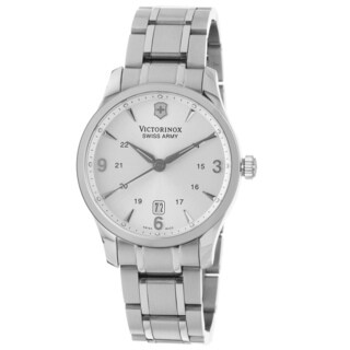 Swiss Army Men's V251476 'Alliance' Silver Dial Stainless Steel Bracelet Swiss Quartz Watch