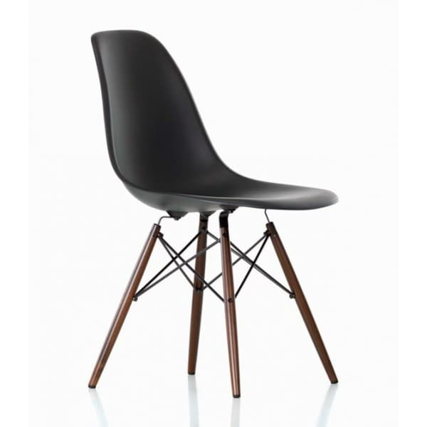 Contemporary retro molded style black accent plastic for Black plastic dining chairs