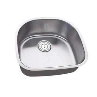 23.25-inch Single Bowl Undermount Stainless Steel Kitchen/ Island/ Bar Sink