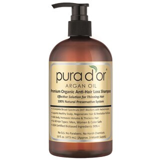 Pura D'or Argan Oil 16-ounce Premium Organic Anti-hair Loss Shampoo