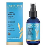 PURA D'OR Organic Argan Oil 4-ounce 100% Pure Cold Pressed
