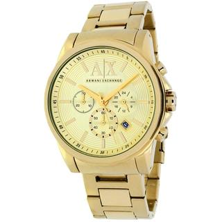 Armani Exchange Men's AX2099 Classic Round Goldtone Bracelet Watch