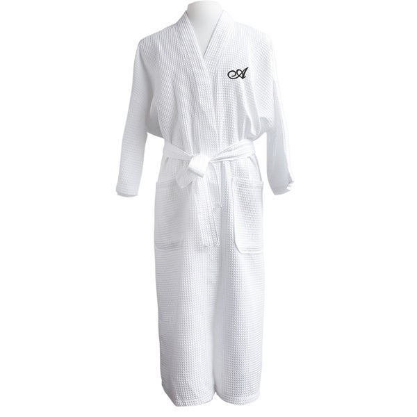 9c18a4a412 Shop Finley Unisex Egyptian Cotton Monogram Waffle Spa Robe - Free ...