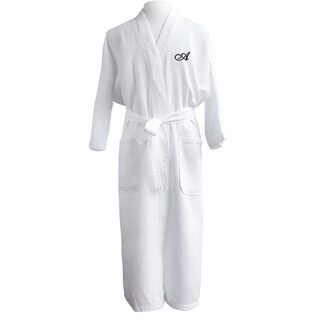 Finley Unisex Egyptian Cotton Monogram Waffle Spa Robe