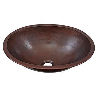 "Link to Sinkology Schrodinger 17"" Dual Mount Handmade Bath Sink in Aged Copper Similar Items in Sinks"
