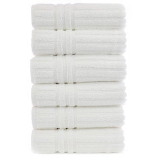 Luxury Hotel and Spa 100-percent Genuine Turkish Cotton Hand Towels Striped (Set of 6)