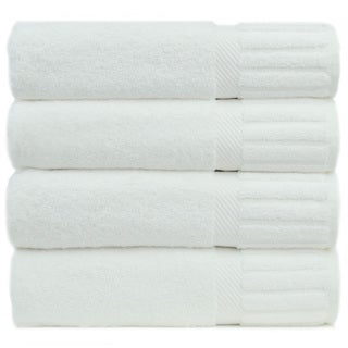 Luxury Hotel and Spa 100-percent Genuine Turkish Cotton Bath Towels Piano Key (Set of 4)