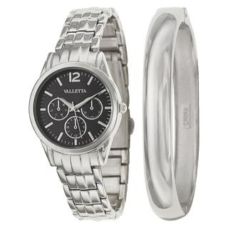 Valletta Women's 'Bracelet' Stainless Steel Silver Bracelet Quartz Watch