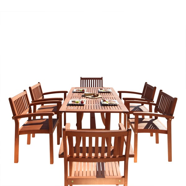 friendly piece wood outdoor dining set rectangular curvy table stacking chairs swivel chair sets and gumtree outside furniture