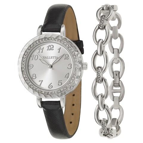 Valletta Women's 'Crystal' Stainless Steel Quartz Watch