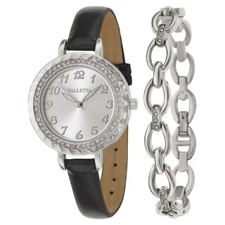 Valletta Women's 'Crystal' Stainless Steel Quartz Watch (5 options available)