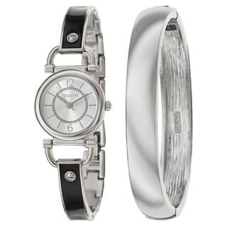 Valletta Women's 'Bracelet' Stainless Steel Quartz Enamel Bracelet Watch (3 options available)