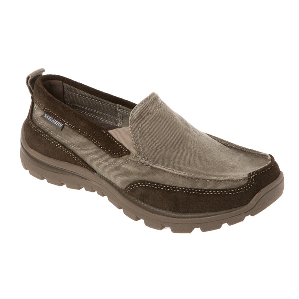 Shop Skechers Usa 63820 Relaxed Fit Canvas Moc Toe Memory