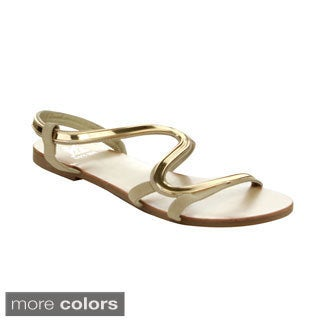 EASOS Women's GEAL JS-276 Cut-out Flat Sandals