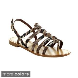 EASOS Women's GEAL JS-032 Snakeskin Pattern Sandals