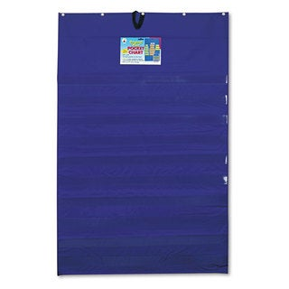 Carson-Dellosa Publishing 10-Pocket Blue Chart with Five Clear Sentence Strips