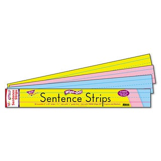 TREND Blue/Pink Wipe-Off Sentence Strips (3 Packs of 30)