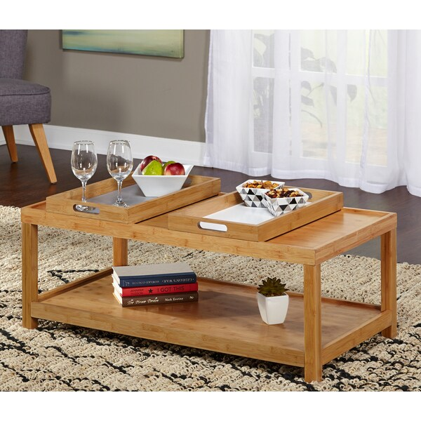 Coffee Table Tray Home Goods: Shop Simple Living Parker Coffee Table With Trays