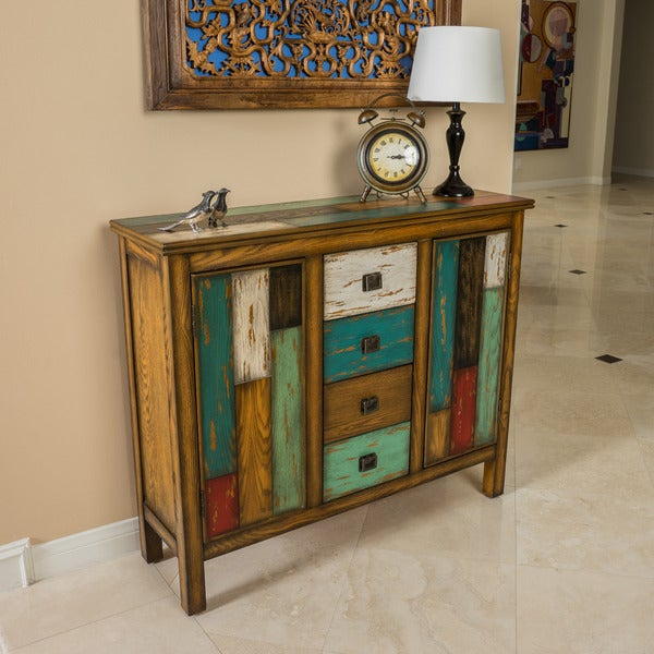 Everest Multi Color Wood Cabinet By Christopher Knight