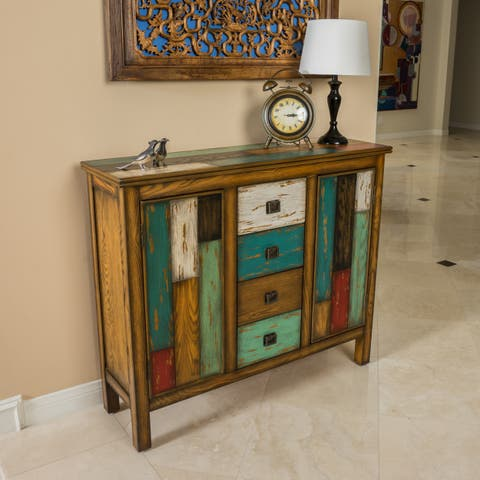 Everest Distressed 4 Drawer 2 Door Cabinet by Christopher Knight Home