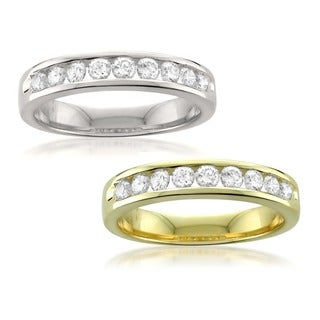Montebello 14k Gold 1/2ct TDW Round-cut Channel-set Diamond Wedding Band