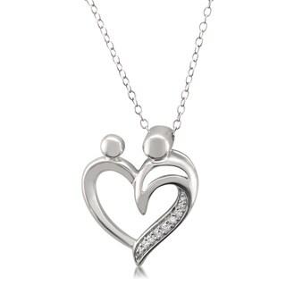 Montebello Sterling Silver Diamond Accent Heart Necklace