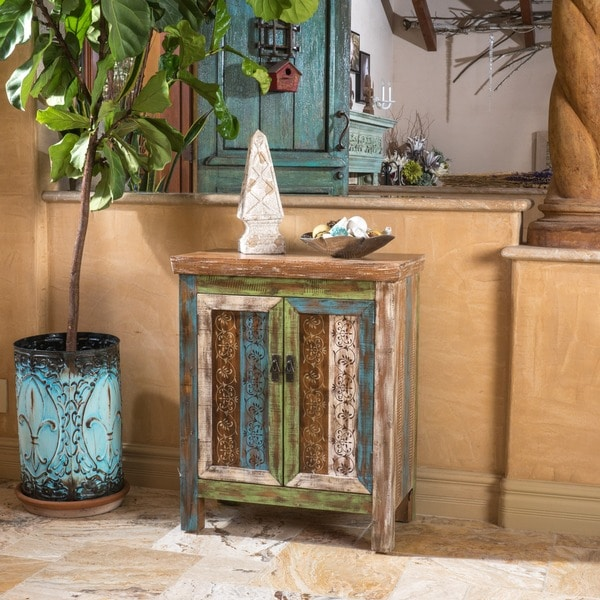 Everest 2-Drawer Wood Cabinet by Christopher Knight Home
