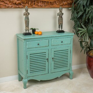 Christopher Knight Home Rainier Antique Green Wood Cabinet