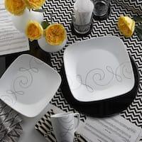 Corelle Square Endless Thread 16-piece Dinnerware Set