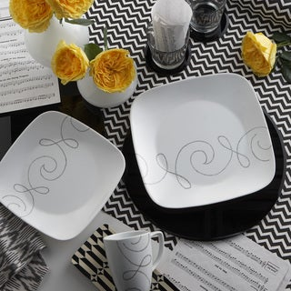Corelle Square Endless Thread 16-piece Dinnerware Set & Square Dinnerware For Less | Overstock.com