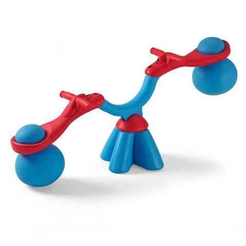 TP Blue/ Red Spiro Bouncer - 47in L x 9in W x 19in H