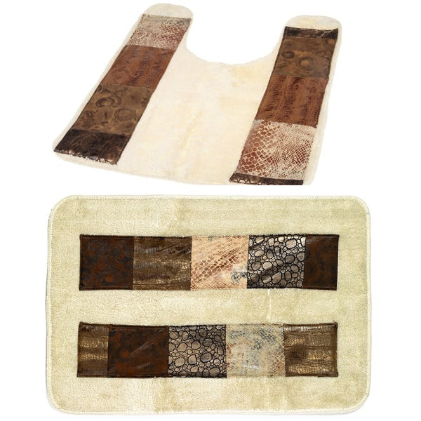 Zebra Print Bathroom Rugs: Shop Animal Print Faux Leather Bath And Contour Rugs