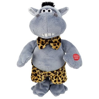 Chantilly Lane 13-inch Hunky Hippo Singing and Dancing Plush