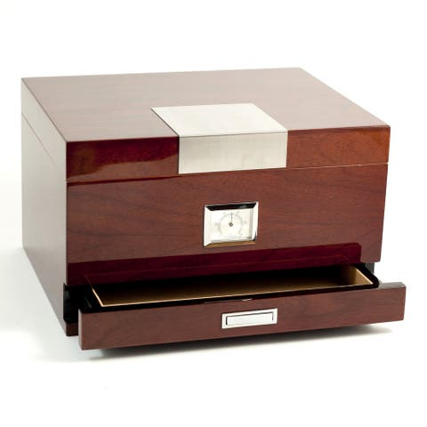 Bey Berk 'Coba' Walnut Wood Cigar Humidor