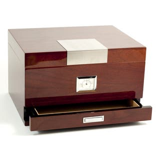 Bey Berk 'Coba' Walnut Wood Cigar Humidor|https://ak1.ostkcdn.com/images/products/10103344/P17244139.jpg?impolicy=medium