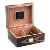 Bey Berk 'Strado' Ebony Wood Cigar Humidor