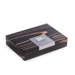 Bey Berk 'Ago' Ebony Wood Cigar Humidor