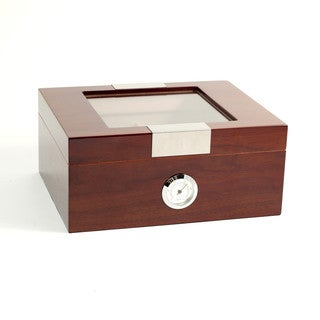 Bey Berk 'Monte' Walnut Wood Cigar Humidor