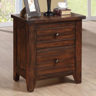 Farmhouse Solid Wood Nightstand