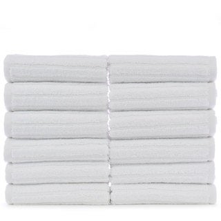 Luxury Hotel and Spa 100-percent Genuine Turkish Cotton Washcloths  - Striped (Set of 12)