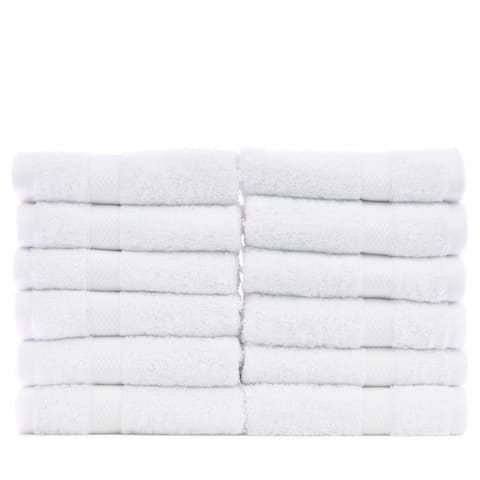 Luxury Hotel and Spa Turkish Cotton/ Rayon from Bamboo Washcloths (Set of 12)
