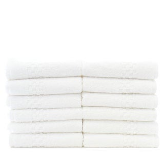 Luxury Hotel and Spa 100-percent Genuine Turkish Cotton Washcloths - Checkered (Set of 12)