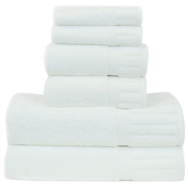 Luxury Hotel and Spa 100-percent Genuine Turkish Cotton 6-piece Towel Set - Piano Key