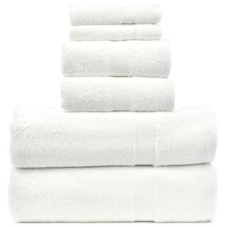 Luxury Hotel and Spa 100-percent Genuine Turkish Cotton 6-piece Towel Set - Honeycomb